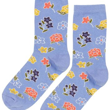 Mixed Floral Ankle Socks - Topshop