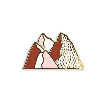 Pink Mountains Enamel Pin