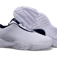Cheap Air Jordan Future 11 Low White Shoes Black