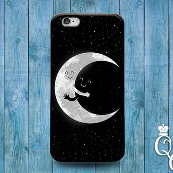 iPhone 4 4s 5 5s 5c 6 6s plus iPod Touch 4th 5th 6th Generation Cute Moon Sun Hug Cute Cool Black White Star Phone Cover Gorgeous Funny Case