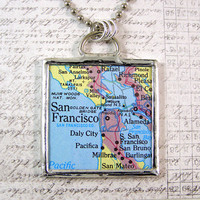 San Francisco Double Sided Pendant Necklace