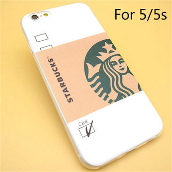 Fashion Starbuck Coffee TPU Slim Back Skin Ultra Thin Soft Phone Case Shell For iPhone 5 5s