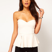 ASOS Strapless Top with Extreme Peplum