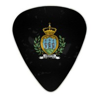 Sammarinese coat of arms pearl celluloid guitar pick