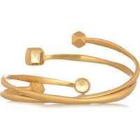 Kevia 22-karat gold-plated set of two bracelets - 55% Off Now at THE OUTNET