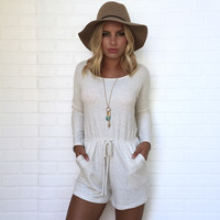 Love At First Light Romper In Cream