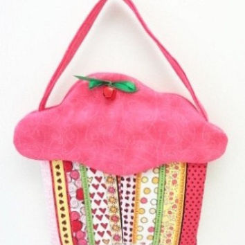 cupcake purse fabric gift bag cloth goodie bag cup167