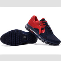 NIKE fashion casual shoes sports shock absorbing running shoes Dark blue red