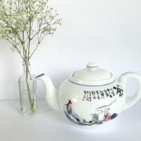 Japanese SceneTeapot with Tea Ceremony