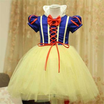 DCCKH6B 2017 Children Cosplay Costume Fancy Princess Dress New Year Halloween Christmas Costumes For Kids Party Dresses