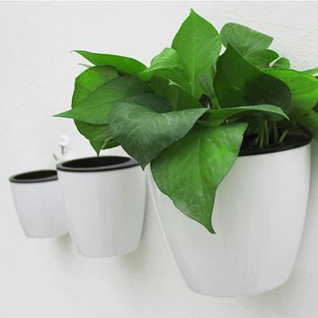 Modern Design Home Wall Hanging Design Flower Pot Round Shape Resin Hydroponics Chlorophytum Potted Flower Pots