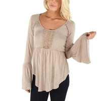Downtown Sage Quarter Sleeve Chiffon Cut from Amazing Lace