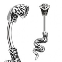 Cobra Snake Navel Ring
