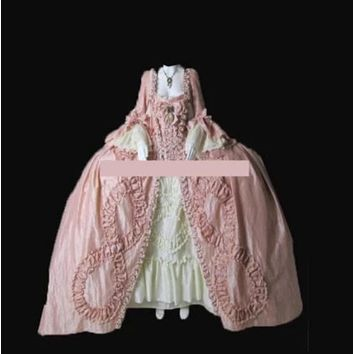 NEW Royal 18th Century French Duchess Rococo Reenactment Theater Civil war Victorian Gown Dress
