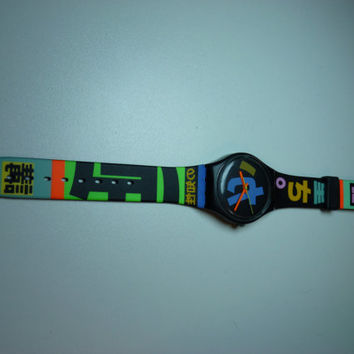 Vintage Harajuku GB124 Swatch Watch, 1989