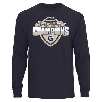 Georgetown Hoyas 2014 Women's Cross Country Conference Champs Long Sleeve T-Shirt - Navy Blue