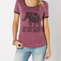 Live Love Dream Ringer Tee