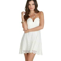 Sale-ivory Floater Babydoll Dress