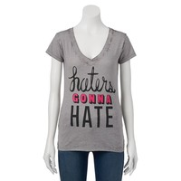 Awake ''Haters Gonna Hate'' Burnout Tee - Juniors, Size:
