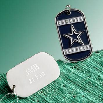 DCCK8X2 NFL Charms, Personalized Dog Tag Necklace, NFL Football Teams, Military Dogtags, New Y