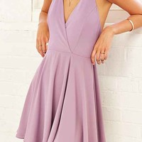 Sparkle & Fade Strappy Chiffon Skater Dress-