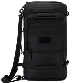Hot men's bags nylon backpack 60 l military travel bags with high quality rest camouflage Dual-use 17 -inch laptop female bag