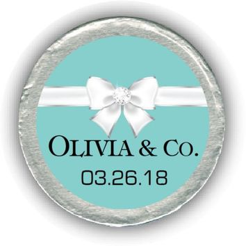 Tiffany Bridal Shower Chocolate Coins