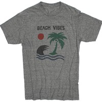 Beach Vibes Graphic Gray Tee by Altru Apparel