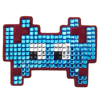 Anya Hindmarch - Embellished Suede Mini Space Invaders Sticker