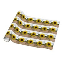 Yellow Flower Gift Wrap