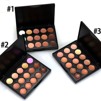 15 Colors Professional Concealer Palette Makeup Face Cream Concealer Palette Cosmetics Contour Palette Make up Set