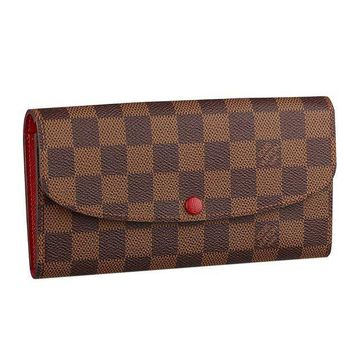 PEAPXT3 Louis Vuitton Damier Ebene Canvas Emilie Wallet Article:N63544 Made in France