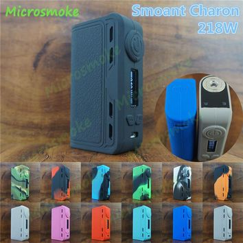 silicone skin for Authentic 218W Smoant Charon TC 218 MOD case thicker sleeve cover Smoant Charon 218w rubber box mod decal