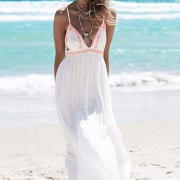 Strappy Slit Maxi Dress