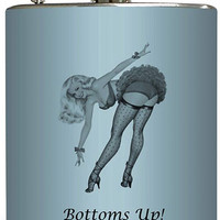 """""""Bottoms Up"""" Flask by Liquid Courage"""