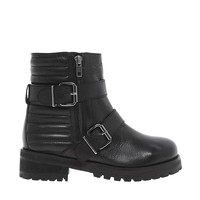 ASOS APPLAUD Leather Biker Boots