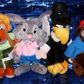Disney's Brer Rabbit Four Piece Set 8`` Plush Beanies