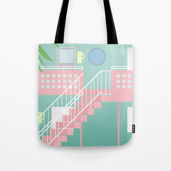 Motel Paradise Tote Bag by Claudia Duarte