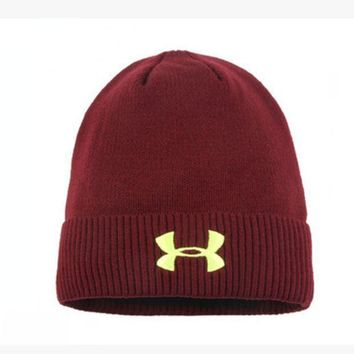 LMOFN1 Perfect Under Armour Women Men Embroidery Warm Earmuffs Ski Cap Sport Hat