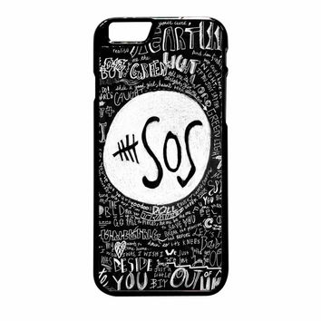 5Sos Logo And Lyrics The Music Band iPhone 6 Plus Case
