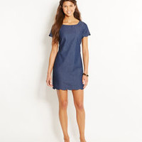 Chambray Scallop Dress
