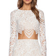 For Love & Lemons Guava Crop Top in White