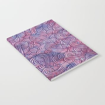Purple swirls doodles Notebook by Savousepate