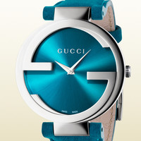 Gucci - interlocking collection large turquoise watch 366920I18A08763