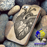 Antique Heart Anatomy   - Case For iPhone 6, iPhone 6+, samsung note 4, note 3, iPhone 5C Case, iPhone 5/5S Case, iPhone 4/4S Case, Samsung S5, S4, S3, iPod 5, iPad mini/air/2/3/4 United States Case  (AQ)