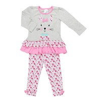 Baby Gear Bunny Ruffled Tunic & Pants Set - Baby Girl, Size:
