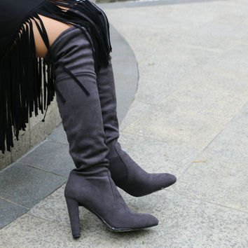 Over the Knee Boots up to Size 12 (26.5cm EU 43)