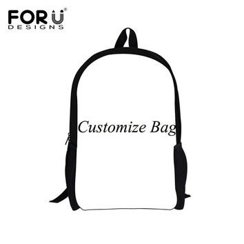 Boys bookbag trendy FORUDESIGNS Suicide Squad Backpack 2 Pcs/Set for Children Harley Quinn Joker School Bags Boys Girls  with Pencil Bag 2018 AT_51_3