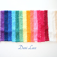 "Skinny Lace Headband  "" Dani Lace"" Stretch Adult Lace Headbands Teenager Headbands Custom Made Custom Size"