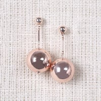 Large Ball Drop Earring